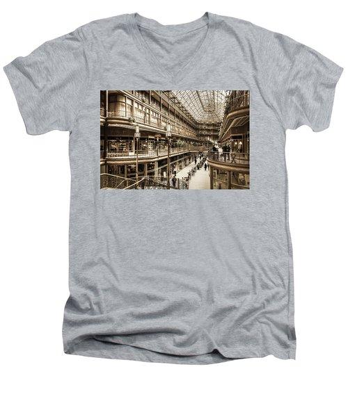 Vintage Old Arcade Men's V-Neck T-Shirt