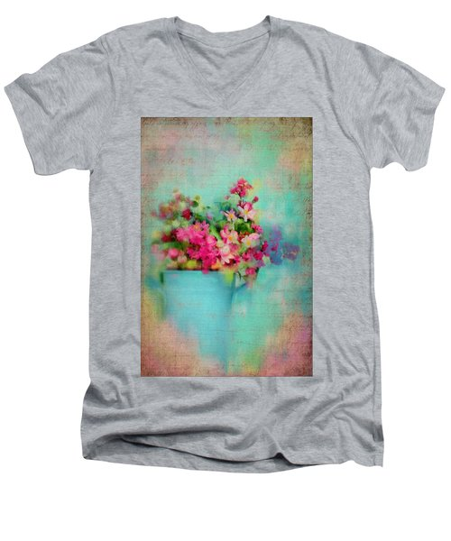 Flowers From A Cottage Garden Men's V-Neck T-Shirt