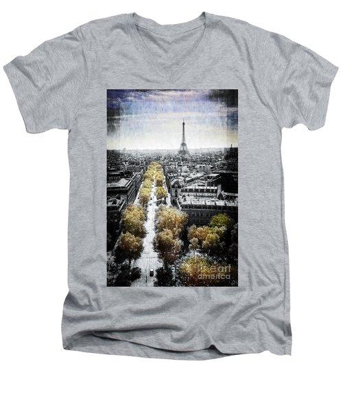 Vintage Paris Men's V-Neck T-Shirt