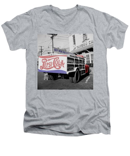 Vintage Pepsi Truck Men's V-Neck T-Shirt