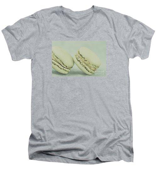 Vintage  Pistachio Macarons Men's V-Neck T-Shirt