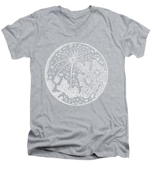 Vintage Planet Tee Blue Men's V-Neck T-Shirt