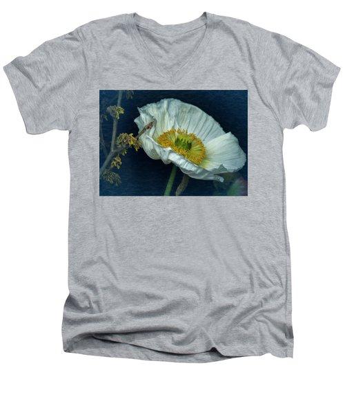 Vintage Poppy 2017 No. 2 Men's V-Neck T-Shirt