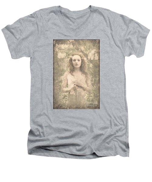Vintage Portrait Men's V-Neck T-Shirt
