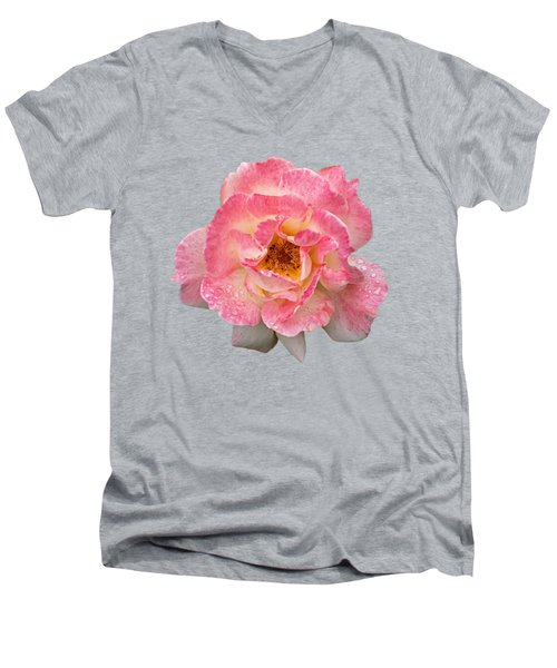 Vintage Rose Square Men's V-Neck T-Shirt