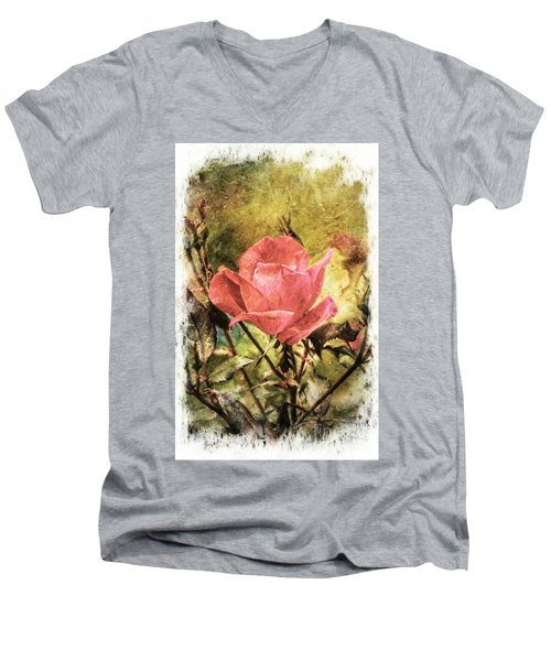 Vintage Rose Men's V-Neck T-Shirt