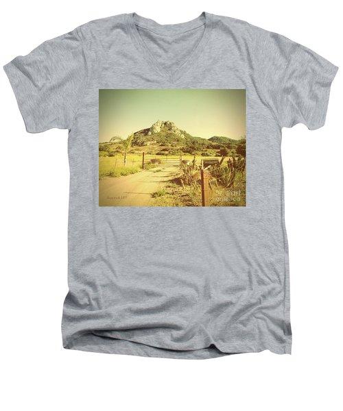 Vintage San Luis Obispo California Seven Sisters  Men's V-Neck T-Shirt