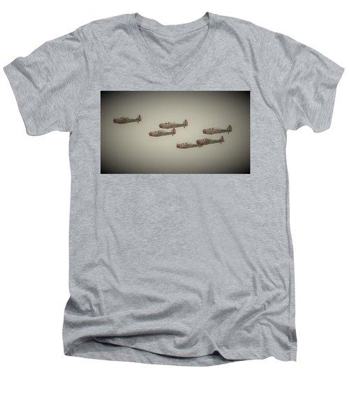 Vintage Skytypers Men's V-Neck T-Shirt