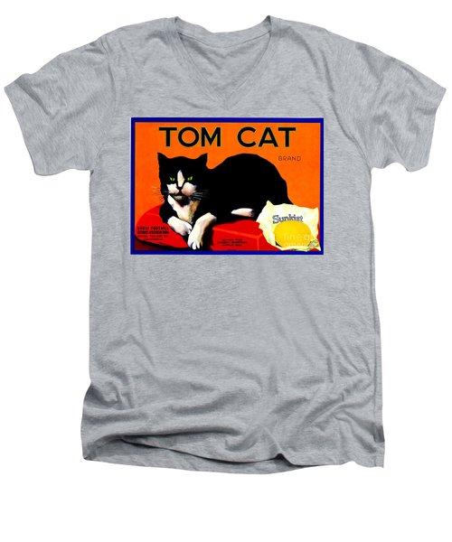 Vintage Sunkist Tom Cat Men's V-Neck T-Shirt