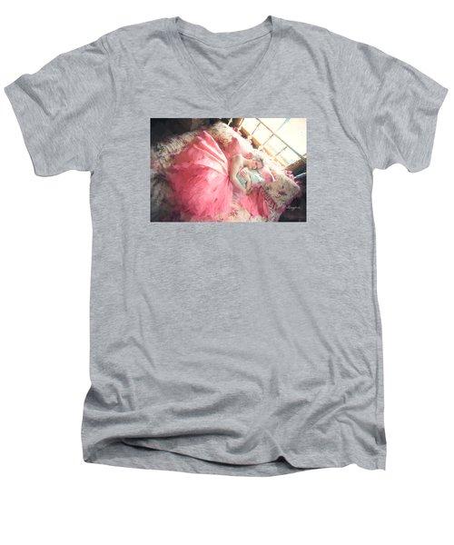 Vintage Val Bedroom Dreams Men's V-Neck T-Shirt