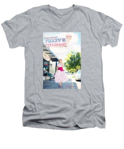 Vintage Val Ice Cream Parlor Men's V-Neck T-Shirt