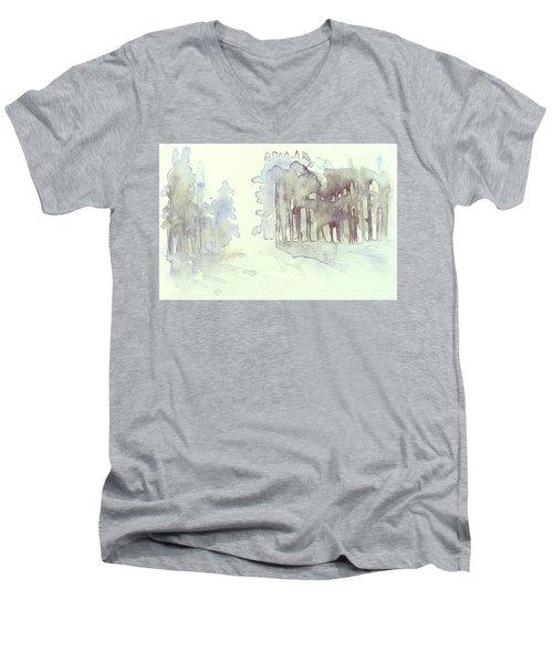 Vintrig Skogsglanta, A Wintry Glade In The Woods 2,83 Mb_0047 Up To 60 X 40 Cm Men's V-Neck T-Shirt