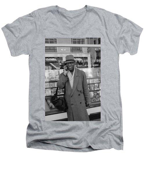 Vinyl Men's V-Neck T-Shirt