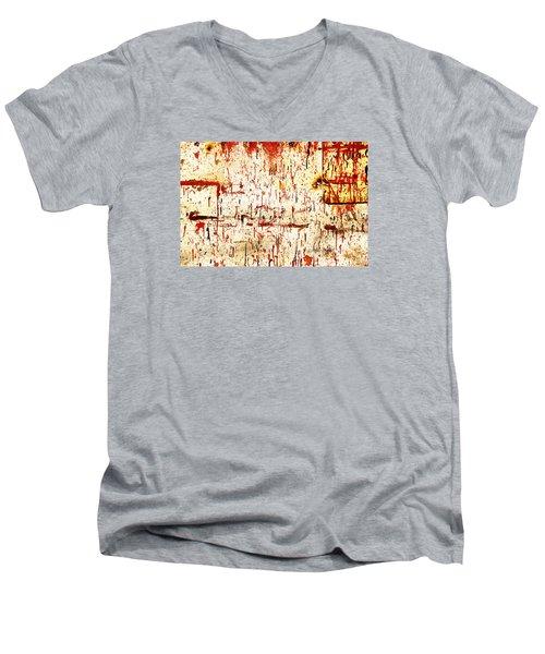 Violent Red Men's V-Neck T-Shirt