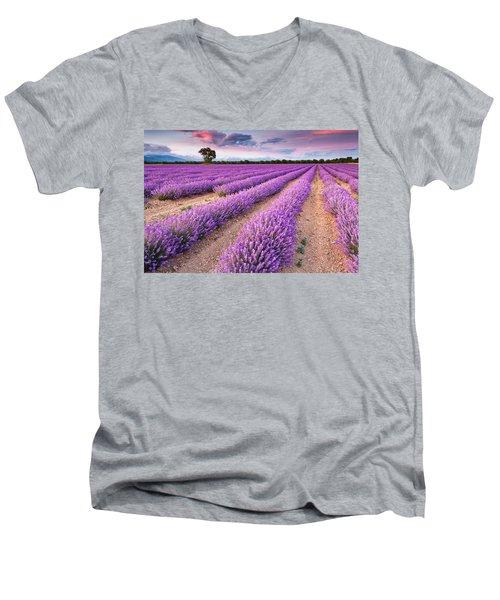 Violet Dreams Men's V-Neck T-Shirt