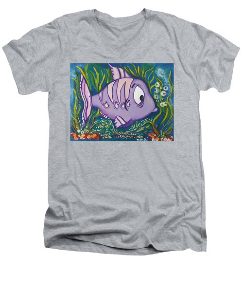 Violet Fish Men's V-Neck T-Shirt