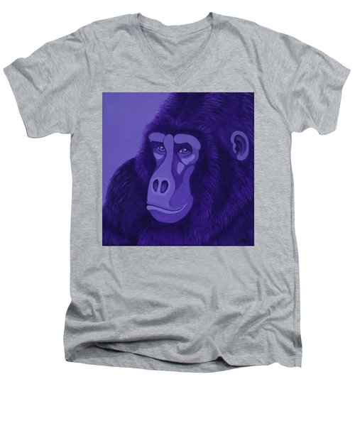 Violet Gorilla Men's V-Neck T-Shirt