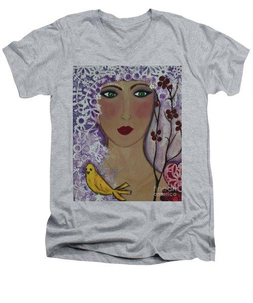 Violet Queen Men's V-Neck T-Shirt
