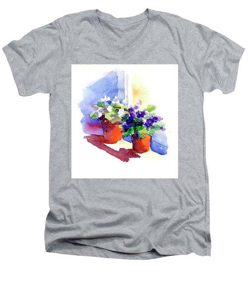 Violets Are Blue Men's V-Neck T-Shirt