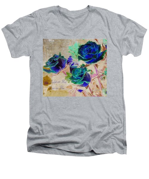 Violets Are Red- Roses Are Blue Men's V-Neck T-Shirt