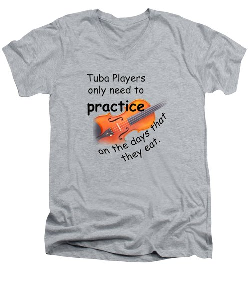 Violin Viola Practice When You Eat For T Shirts  Or Posters 4832.02 Men's V-Neck T-Shirt