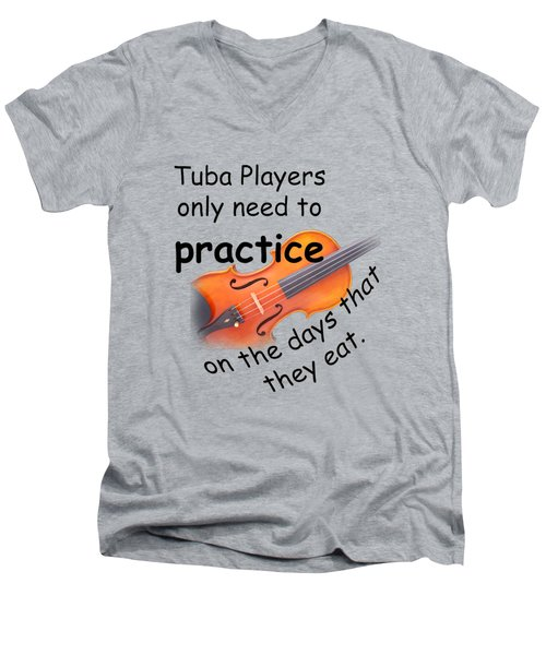 Violins Practice When They Eat Men's V-Neck T-Shirt by M K  Miller