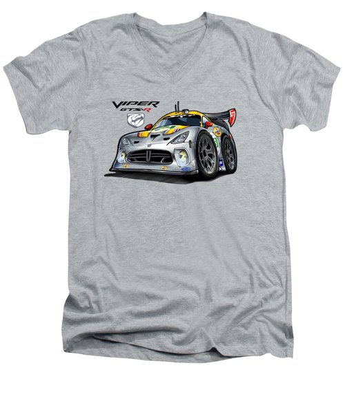 Viper Gts-r Car-toon Men's V-Neck T-Shirt