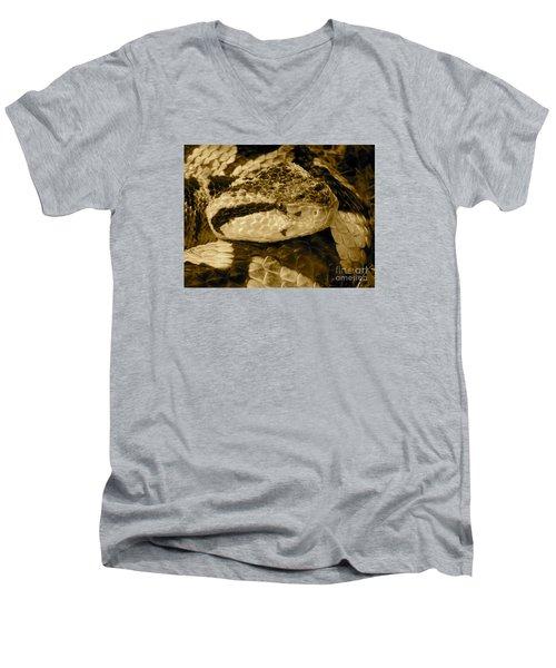 Viper's Glare Men's V-Neck T-Shirt by KD Johnson
