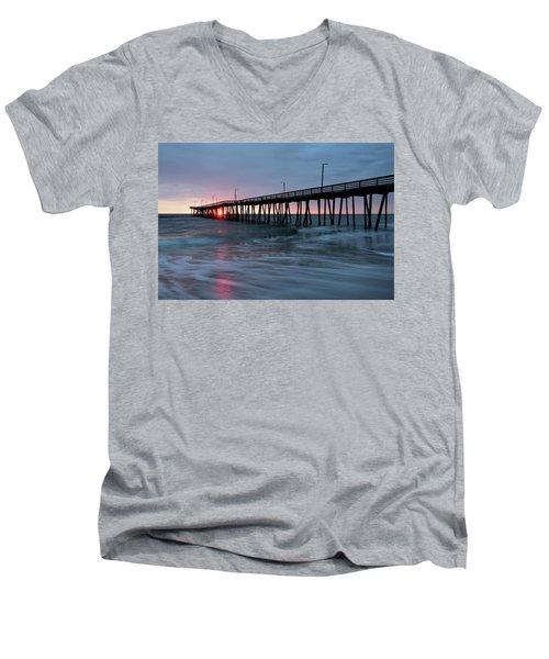 Virginia Beach Fishing Pier Men's V-Neck T-Shirt