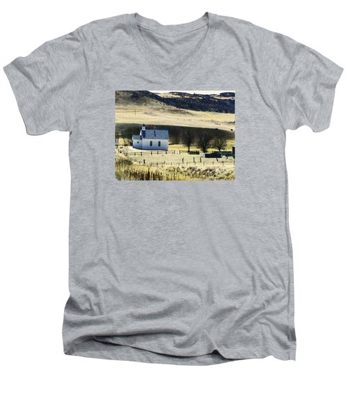 Virginia Dale Colorado Men's V-Neck T-Shirt