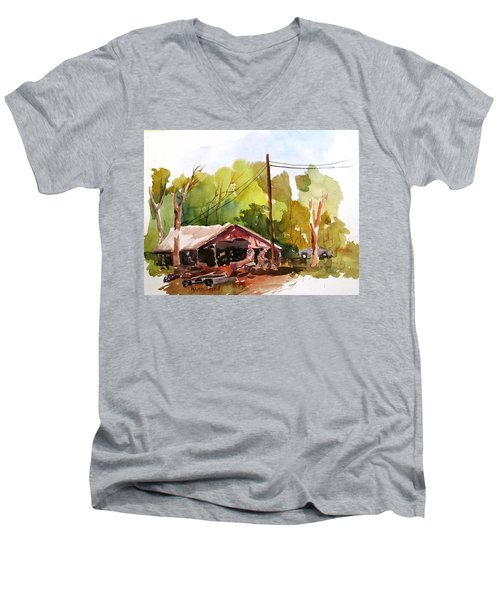 Virginia Saw Mill Men's V-Neck T-Shirt