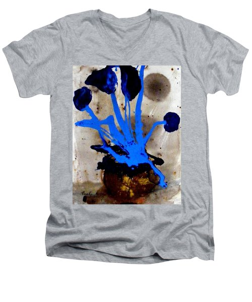 Virtually Blue Men's V-Neck T-Shirt