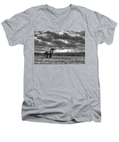 Visible Lights The Iron Horse Sunrise Art Men's V-Neck T-Shirt
