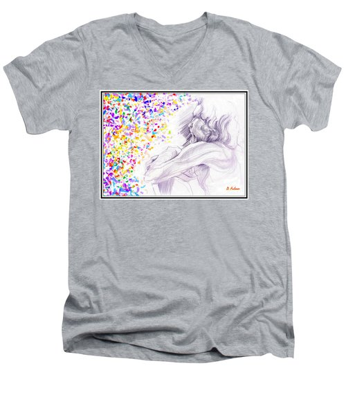 Visionary Men's V-Neck T-Shirt by Denise Fulmer