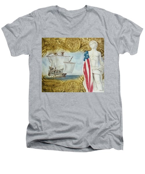Visions Of Discovery Men's V-Neck T-Shirt
