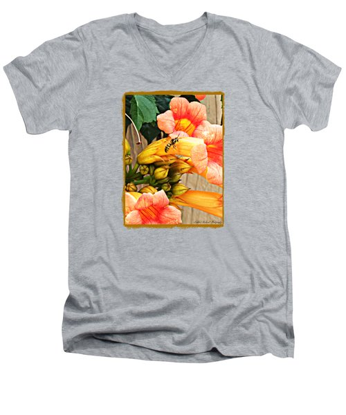 Visitor  Men's V-Neck T-Shirt by Bobbee Rickard