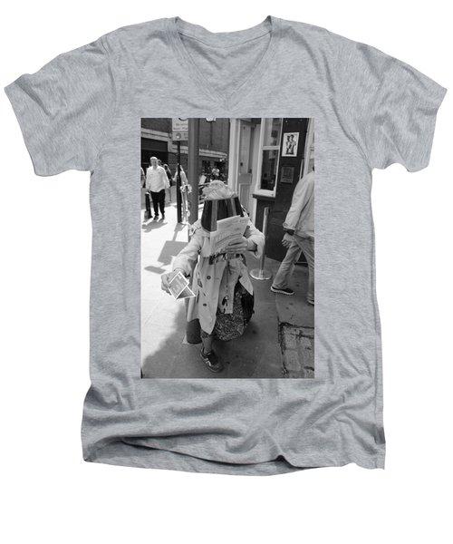 Visored Men's V-Neck T-Shirt