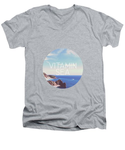 Vitamin Sea Men's V-Neck T-Shirt by Alexandre Ibanez