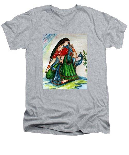 Viyog Men's V-Neck T-Shirt by Harsh Malik
