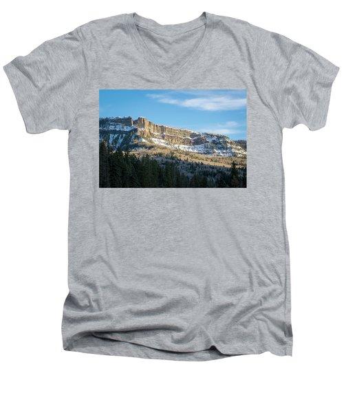 Volcanic Cliffs Of Wolf Creek Pass Men's V-Neck T-Shirt