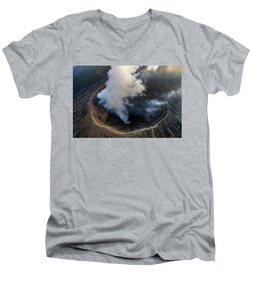 Volcanic Crater From Above Men's V-Neck T-Shirt