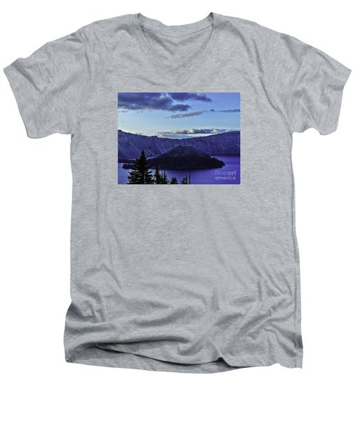 Men's V-Neck T-Shirt featuring the photograph Volcano Within by Nancy Marie Ricketts