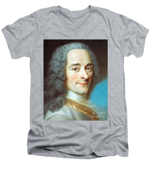 Voltaire Men's V-Neck T-Shirt by Pg Reproductions