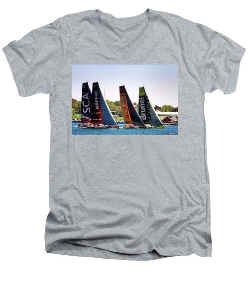Volvo Ocean Race Newport Ri Men's V-Neck T-Shirt