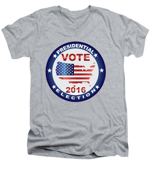 Vote 2016 Usa Presidential Election Button Men's V-Neck T-Shirt