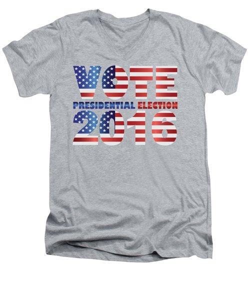 Vote 2016 Usa Presidential Election Illustration Men's V-Neck T-Shirt
