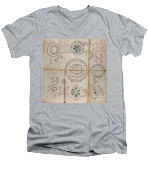 Voynich Astro 3x3 Men's V-Neck T-Shirt