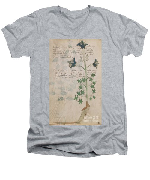 Voynich Flora 03 Men's V-Neck T-Shirt