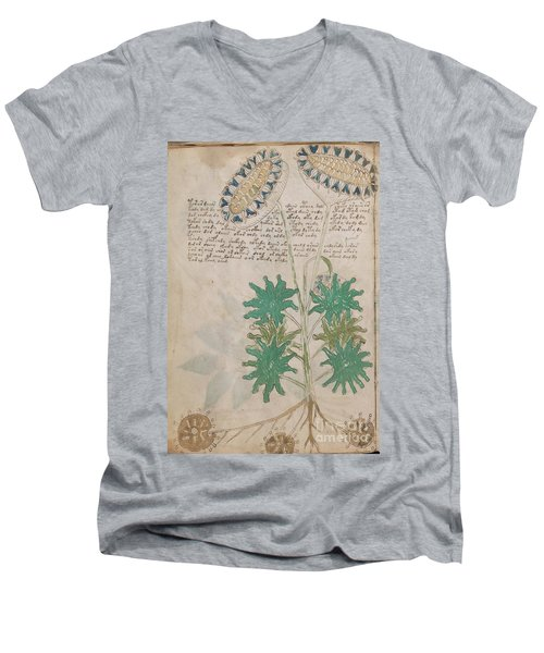Voynich Flora 04 Men's V-Neck T-Shirt