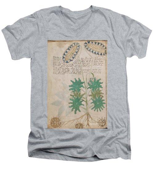 Voynich Flora 04 Men's V-Neck T-Shirt